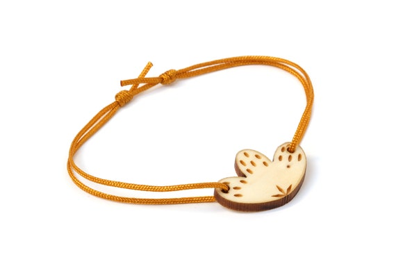 Lasercut wood flower bracelet - 25 colors - cobalt mustard petroleum adjustable length - floral bangle - gift for her - hot jewelry - OSFA