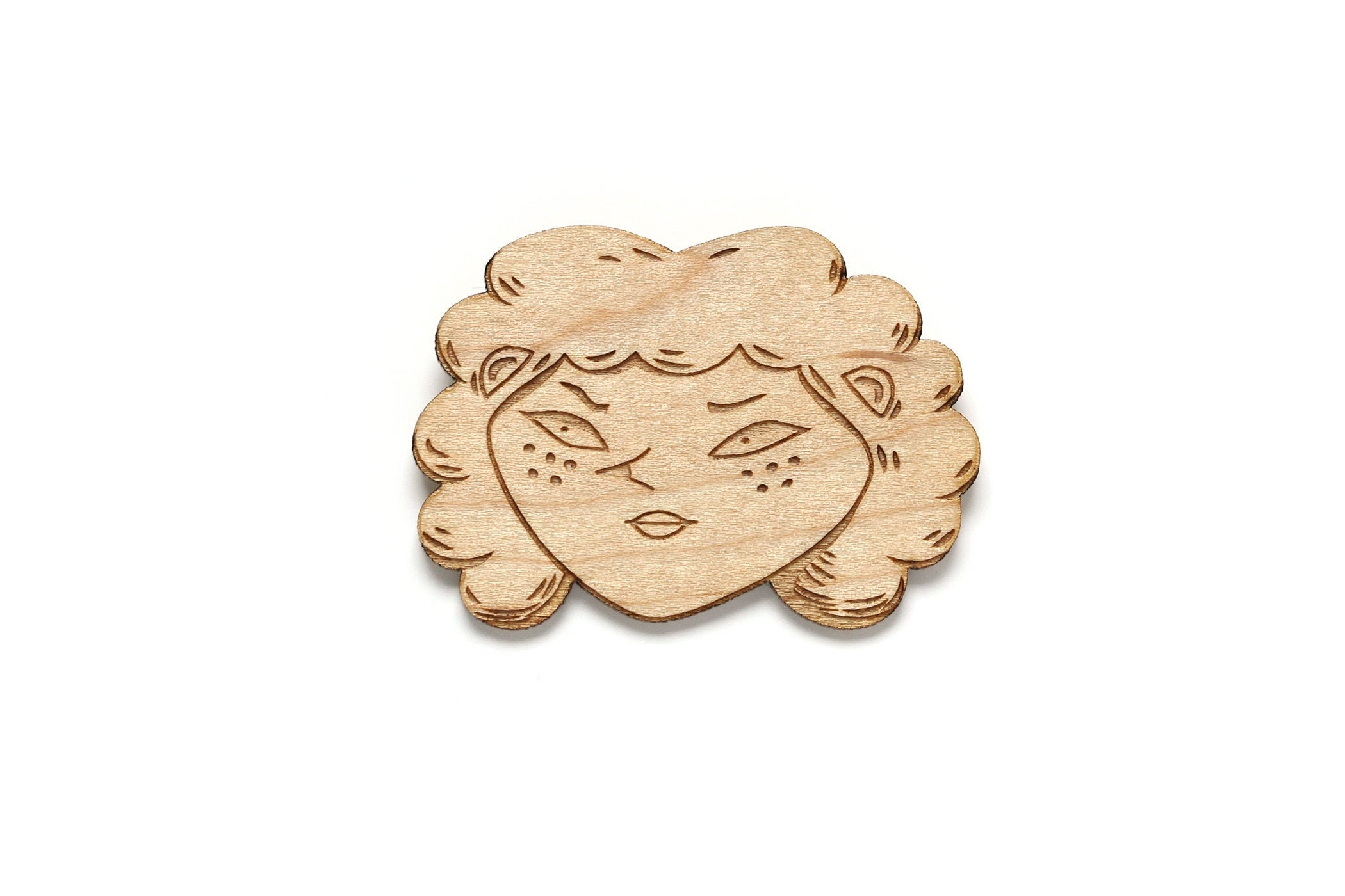 Witchy Woman Wooden Pin
