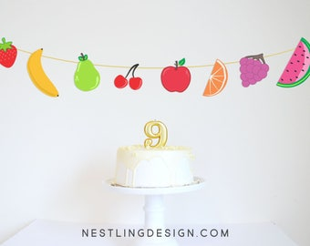 Fruit Garland | Twotti Frutti | Twotti Frutti Party | Two-tti Fruity Birthday | Printable Party Decorations | Fruit Banner