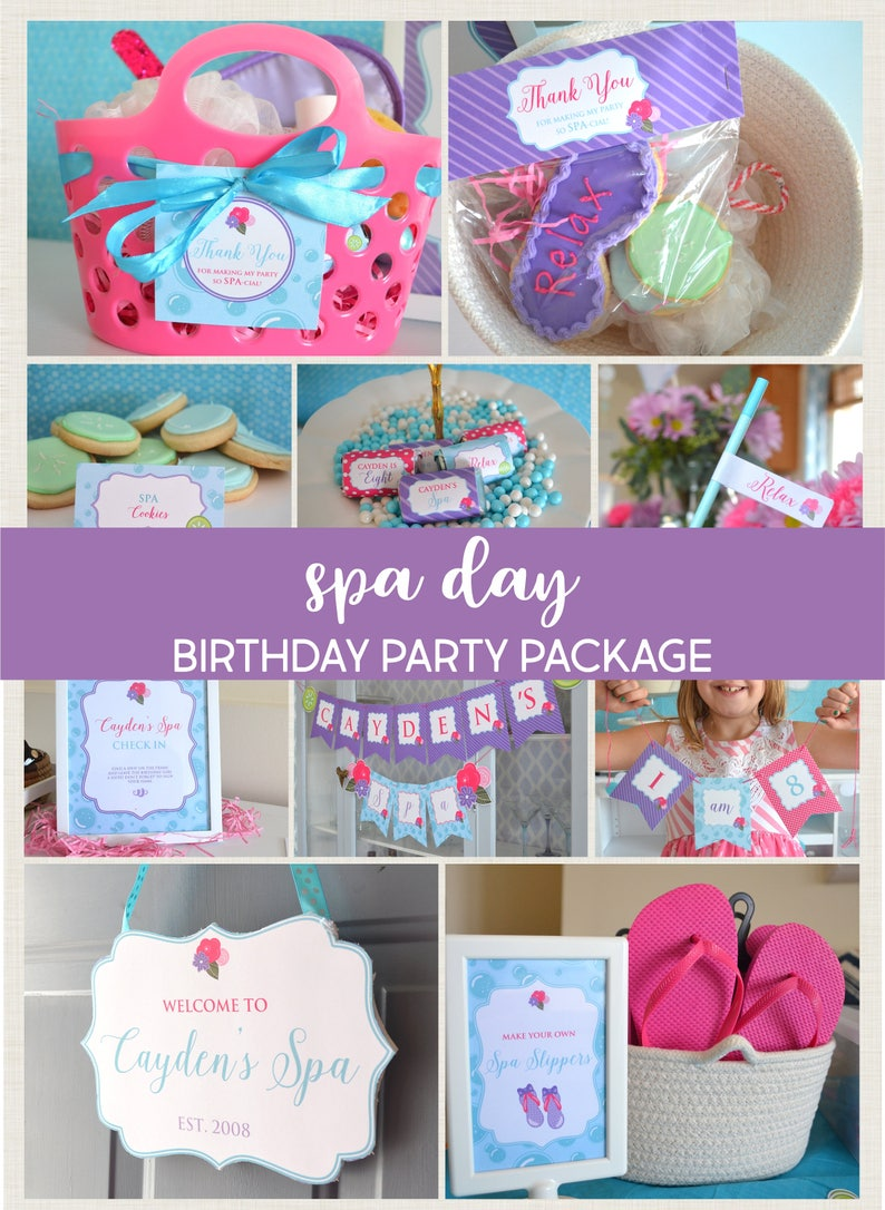 Spa Birthday Party Decorations For Girls Day