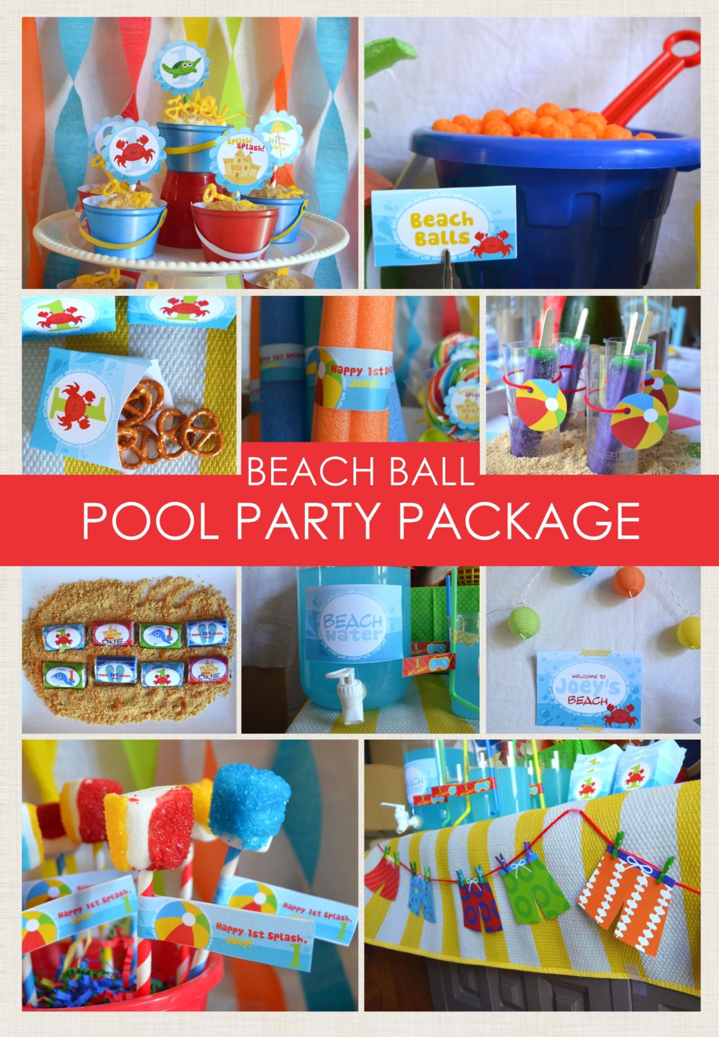 Beach Ball Party Package / Beach Party / Pool Party / Sea | Etsy