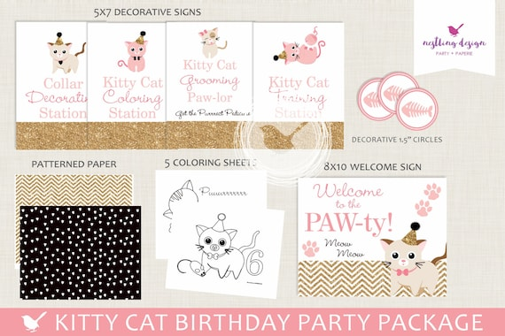 Kitty Cat Party Package