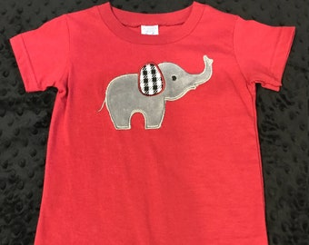 Houndstooth Elephant Romper/Alabama/Boys Alabama outfit/houndstooth/romper/bodysuit/football/boys football/alabama football/bama baby