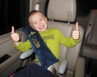 Cross Seat Belt Pillow/cross pillow/travel pillow/car seat pillow/seat belt pillow/minky pillow/kids travel pillow/personalized pillow
