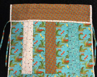 Aqua and Brown Car Seat Quilt - clearance items