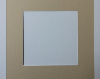Pack of 10 8x8 Square White Picture Mats with White Core Bevel Cut for 4x4 Pictures