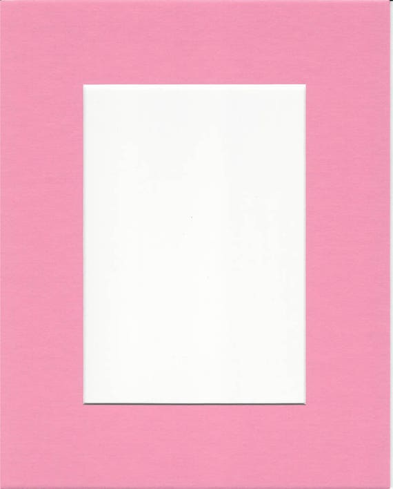 22x28 Bubblegum Pink Picture Mats With White Core For