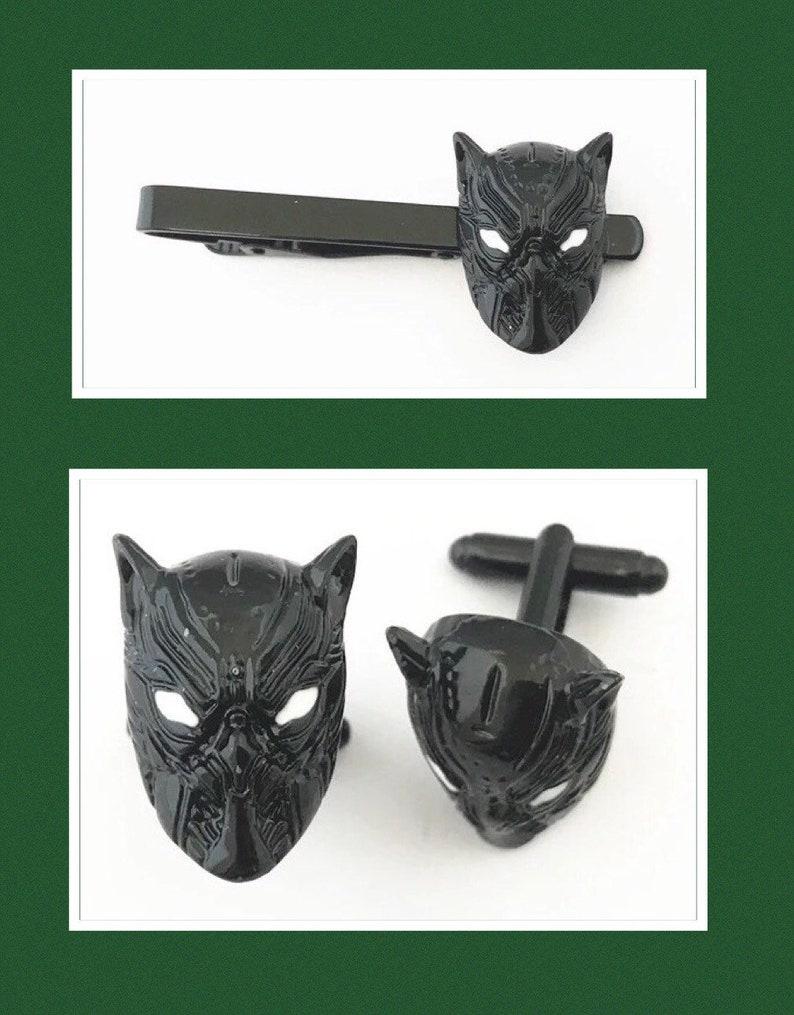 Black Panther Tie Clip  Cufflink or set