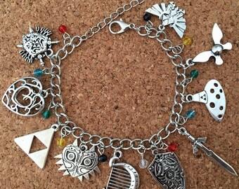 Zelda inspired charm bracelet