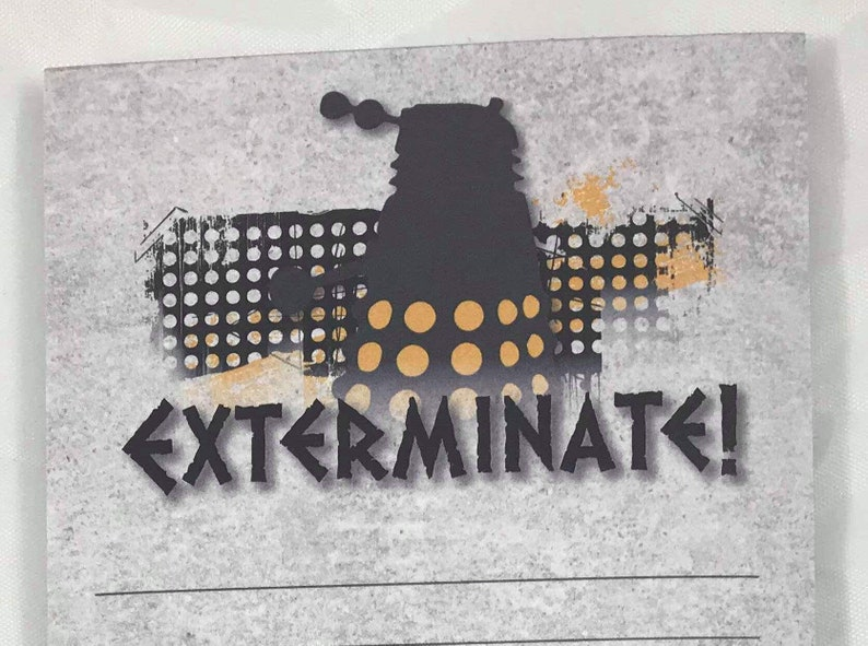 Dr Who Exterminate notepad
