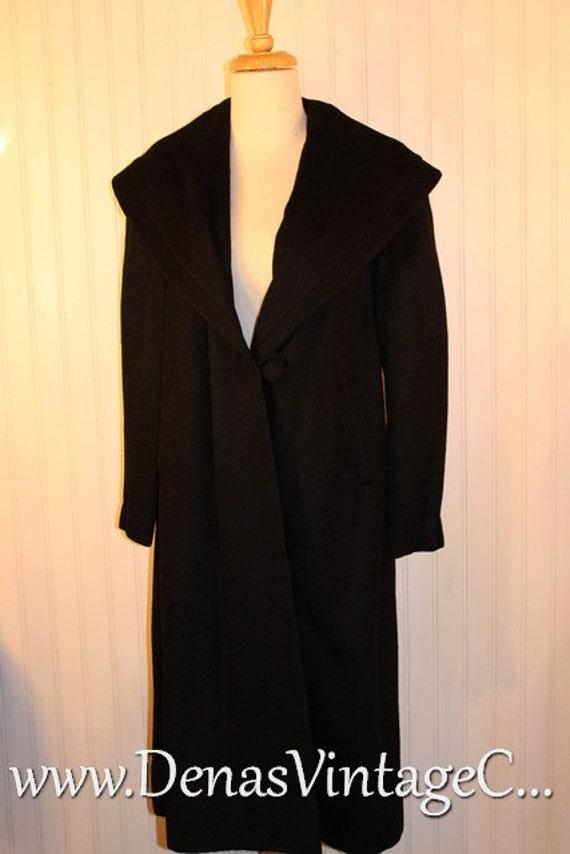 Vintage 40's 50's Black Alpaca Wool  Wynmar By  Wy