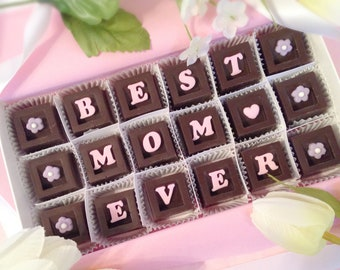 Best Mom Ever Chocolates - Mother's Day Chocolates - I Love You Mom Chocolates - Gift for Mom - Chocolate Mother's Day Gift - Mom Gift