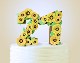 how to make number 1 cake topper