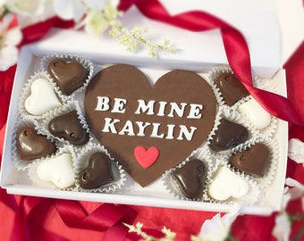 Personalized Chocolate Heart Heart Shaped Valentine Etsy