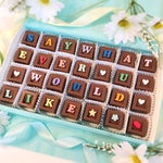 Say Whatever You Would Like In Chocolate - Personalized Candy Gift - Gift for Him - Personalized Chocolates - Gift For Her - Chocolate Gift