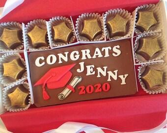 Personalized Chocolate Graduation Gift - Gift for Graduate - Graduation Chocolates - Long Distance Grad Gift - Graduation Gift