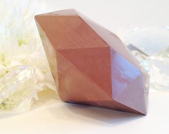 Giant Solid Milk Chocolate Diamond - Diamond Shaped Candy - Chocolate Anniversary Gift - Large Candy Diamond - Diamond Birthday gift