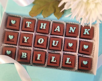 Thank You Chocolate - Chocolate Thank You - Appreciation Gift - Hostess Gift - Unique Thank you Gift - Chocolate Thank You - Gift for Friend