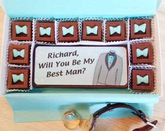 Personalized Will You Be My Best Man Chocolates - Best Man Proposal Chocolates - Be My Groomsman - Groomsman Proposal - Be My Best Man