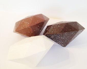 Diamond Shaped Chocolate - Diamond Chocolate - Giant Diamond Chocolate - Anniversary Gift - Gift for Her - Giant Chocolate Diamond