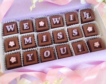 We Will Miss You Chocolates - Miss You Gift - Goodbye Chocolates - Retirement Gift - Going Away Gift