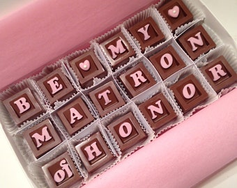 Will You Be My Matron of Honor Gift - Matron of Honor Chocolate Proposal - Bridal Party Proposal - Propose to Matron of Honor