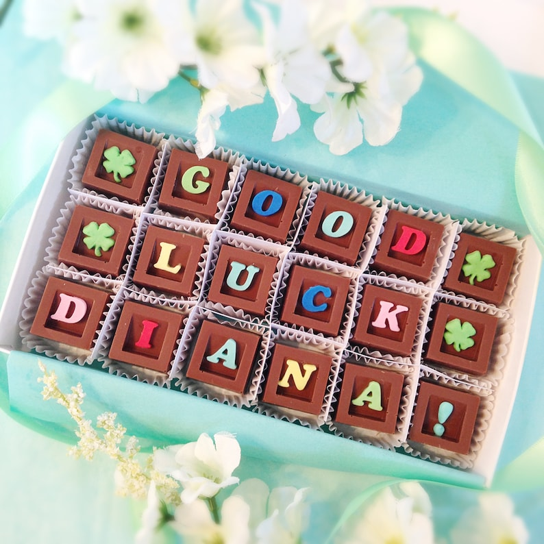 Viel Gluck Schokolade Personalisierte Gluck Geschenk Neues Etsy