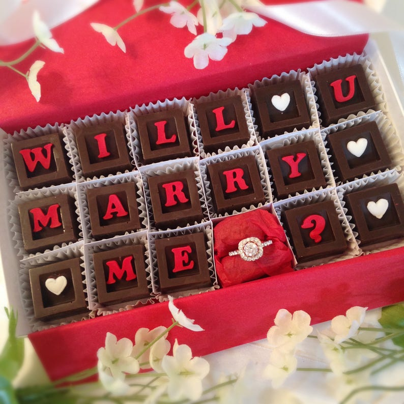 Will You Marry Me Chocolates & Ring  Chocolate Marriage image 0