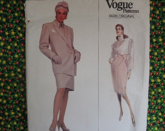 Uncut Montana Jumpsuit and Coat Pattern Bust 38 Dated 1989 Fabric Tag Included Vogue Paris Original 2389