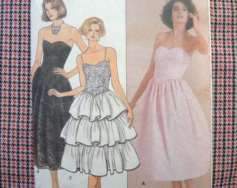 vintage 1980s Butterick sewing pattern 3120 Misses dress size 6-8-10