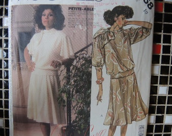 vintage 1980s McCalls sewing pattern 2368 top and skirt size 10 Dynasty TV series collection