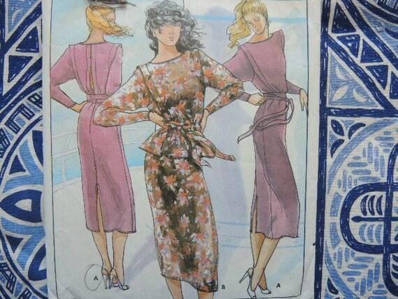 UNCUT Vintage Butterick SEWING Pattern 4298 NICOLE MILLER Evening Dress FF