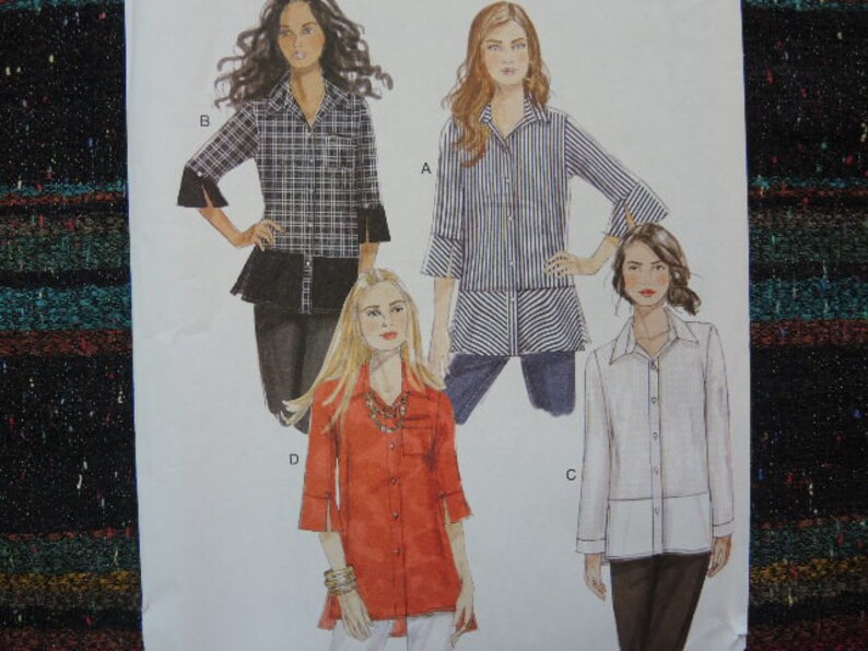 df08406e 2000s sewing pattern Butterick 6376 misses loose fitting shirt | Etsy