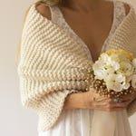 Wedding Wrap, Bride Shawl, Stole, Knit Shrug