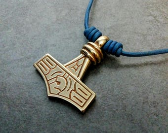 Thors Hammer Mjolnir Pendant from Gotland in Lost Wax Cast Bronze