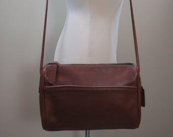 39bd35602c41 Brown COACH Leatherware Crossbody Vintage Coach Bag Brown Leather Purse  1980s Coach Cross Body Vintage Handbag Brown Leather Coach Bag USA