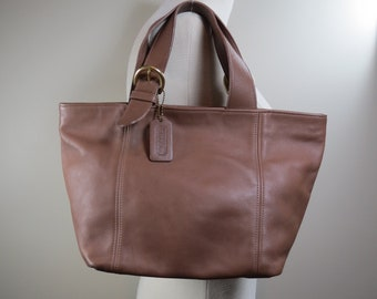 6407944ca0865 COACH Waverly Tote Vintage Coach Bag Taupe Leather Coach Bag Vintage  Handbag 1990s Coach Bag Vintage Purse Small Leather Coach Tote 4133