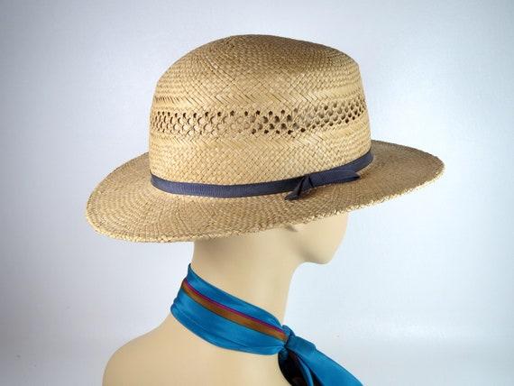 Vintage Banana Republic Straw Hat Women's Woven H… - image 3