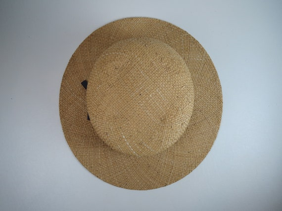Vintage Banana Republic Straw Hat Women's Woven H… - image 7