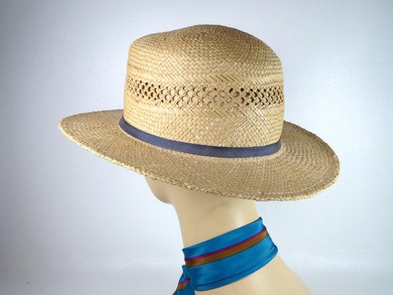 Vintage Banana Republic Straw Hat Women's Woven H… - image 5