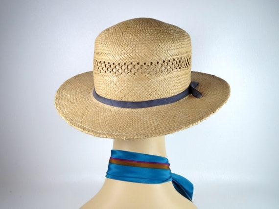 Vintage Banana Republic Straw Hat Women's Woven H… - image 4