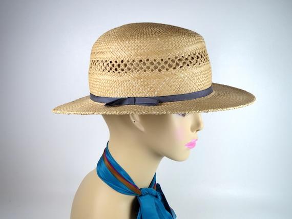 Vintage Banana Republic Straw Hat Women's Woven H… - image 2