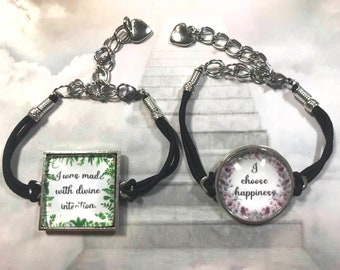Posititve Affirmation Bracelet Gift for Teens Young Adults Design Your Own