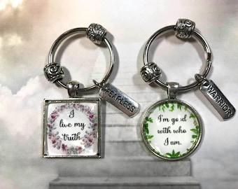 Positive Affirmation Key Ring Gift for Teens Self Confidence Key Ring Design your own
