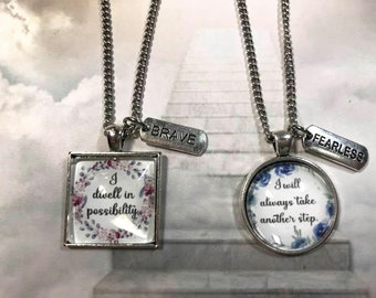 Positive Affirmation Necklace Gift for Teens Self Confidence Necklace Design your own