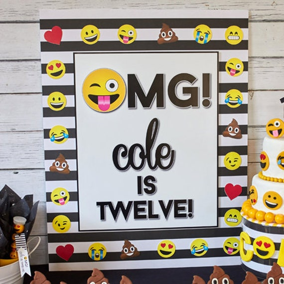 Printable Emoji Birthday Party Backdrop