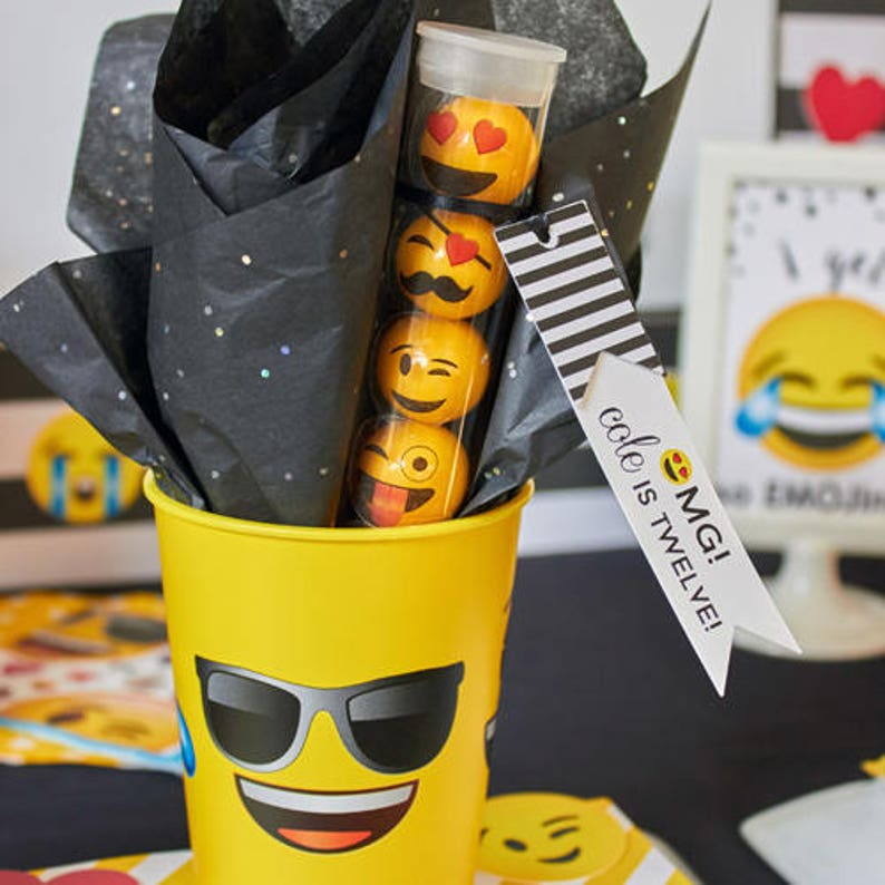 Emoji Birthday Party Favor Tags