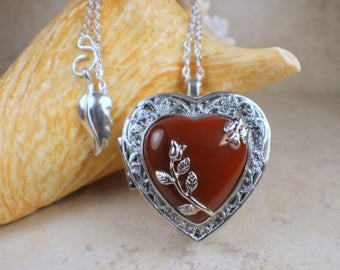Music box pendant etsy red agate chakra music box aloadofball Image collections