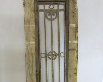 Antique Egyptian Architectural Wood & Iron Door Panel (36)