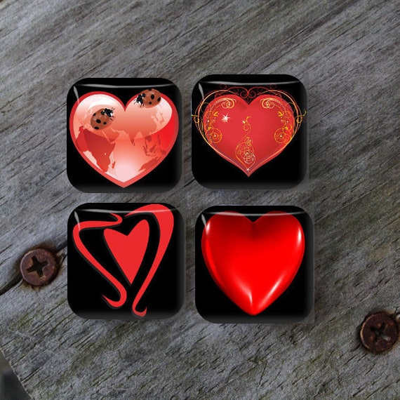 Valentines Day Magnets Heart Magnets Fridge Magnets Etsy